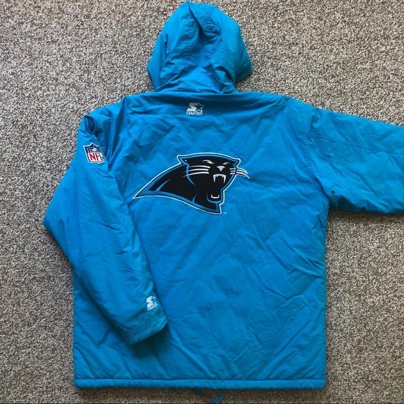 reputable site 742a8 2797c Vintage Carolina Panthers Starter jacket XL EUC